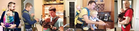 Babywearing Fathers in Calgary