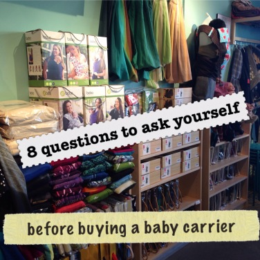 c10826cb5 8 Questions to ask yourself before buying a baby carrier ...